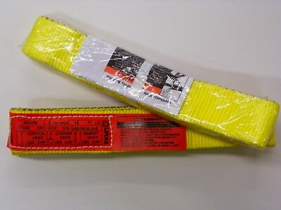 """2 PIECES of LIFT-ALL STRAPS, ENDLESS SLINGS  2"""" X 4', #EN1602NX4   A040"""