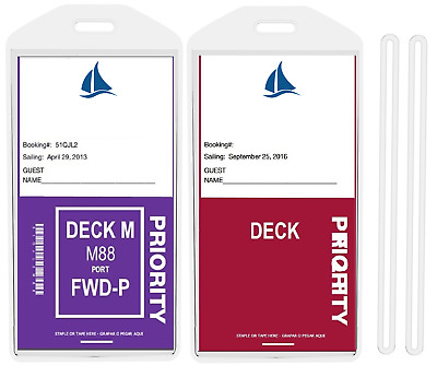 8 Luggage Cruise Tag Holders for PRINCESS, CARNIVAL, HOLLAND AMERICA, NORWEGIAN
