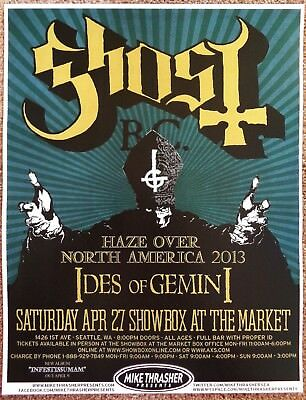 GHOST BC 2013 Gig POSTER Seattle Washington Concert
