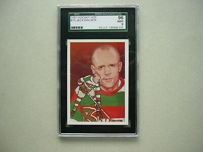 1983 1983/84 Cartophilium Nhl Hockey Hall Of Fame Card #75 Jack Walker Sgc 9 Mt