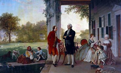 Painting Rossiter Washington Lafayette Vernon Large Replica Canvas Art Print