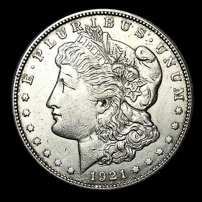 1921 S ~**ABOUT UNCIRCULATED AU**~ Silver Morgan Dollar Rare US Old Coin! #928