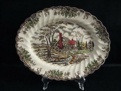 Myott The Brook Brown Multicolor Staffordshire England Serving Platter