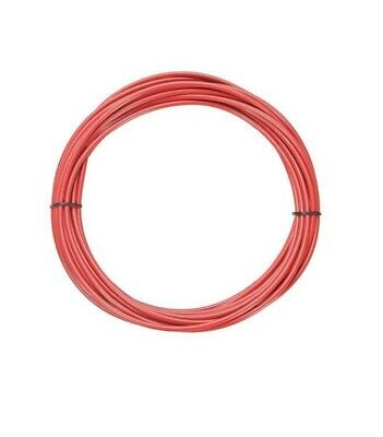 Jagwire Lined Bicycle Brake Cable Housing Casing Red 25' Roll 5mm with End Caps
