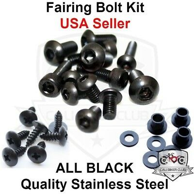 Black Fairing Bolt Kit Body Screws Washer Bolts for Honda CBR1000RR 2004 2005