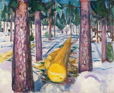 Painting Edvard Munch The Yellow Log Picture Canvas Art Print