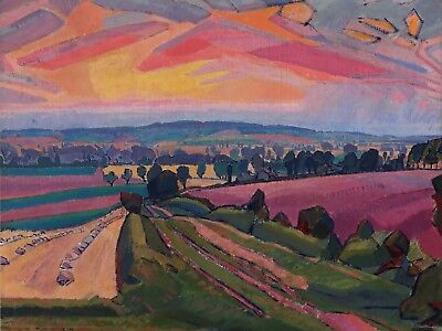 Painting Spencer Gore The Icknield Way Canvas Art Print