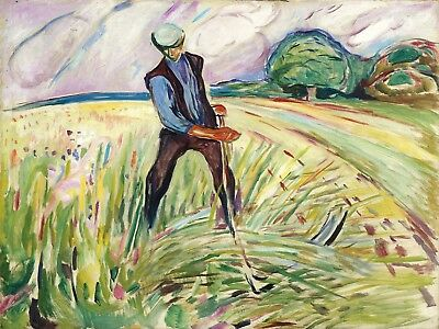 Painting Field Painting Edvard Munch The Haymaker Canvas Art Print