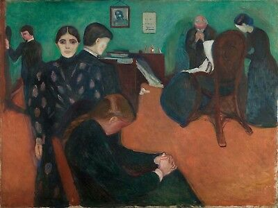 Painting Edvard Munch Death In The Sickroom Canvas Art Print