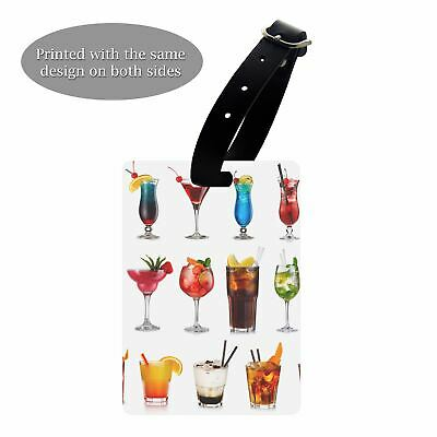 Luggage Suitcase Baggage Tag Tropical Drinks Fruit Cocktails - S721