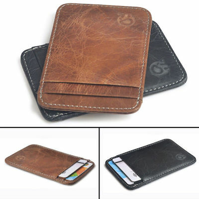 Casual 6 Layers Slim Credit Card Holder Unsex Mini Wallet ID Case 2 Colors NEW