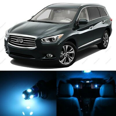 License Plate Lights For 2013-2016 2017 JX35 QX60 13x White LED Interior Bulbs