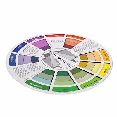 Tattoo Color Wheel Pigment Mixing Guide 23.5cm Dia. Nail Color Embroidery Wheel