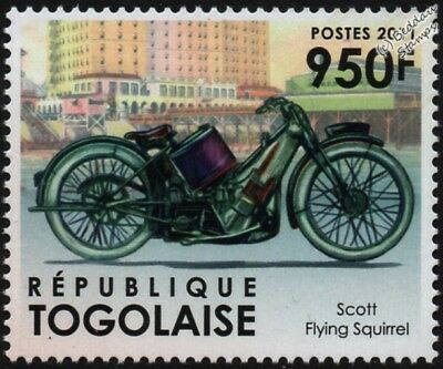 SCOTT FLYING SQUIRREL Isle of Man TT Classic Motorcycle / Motorbike Stamp