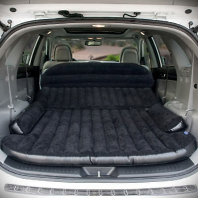 Car Air Bed Inflatable Mattress Back Seat Cushion Pillow Pump For