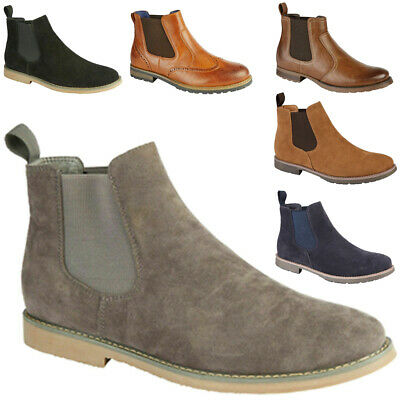 Mens Desert Boot Chelsea Slip On Work Boots Casual Shoes Size UK 7 8 9 10 11 12