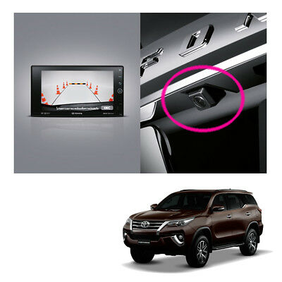 Rear Trunk View Camera Set Genuine Black For Toyota Fortuner Suv 2015 2018