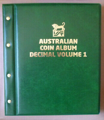 VST Large 50c COIN COLLECTION ALBUM 12 PAGES - holds 360 COINS MINTAGES Printed