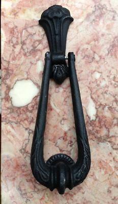 Heavy cast iron swag drop loop doorknocker entrance door knocker & striker