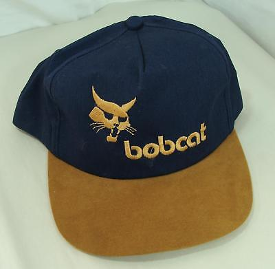 Blue & Brown New Bobcat Construction Equipment Baseball Cap Hat Snap Back Unused