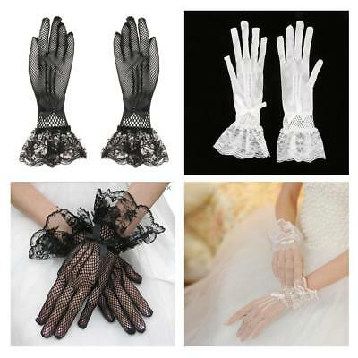 Womens Lace Long Gloves Opera Wedding Bridal Evening Party Prom Costume Gloves
