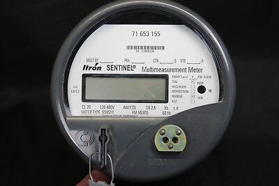 Itron Sentinel Multi Measurement Electric Meter 9 Terminal CL20 120-480v SS4S1T