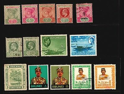 Seychelles Brunei Darussalam Used And Mint Stamps Fishing Boats