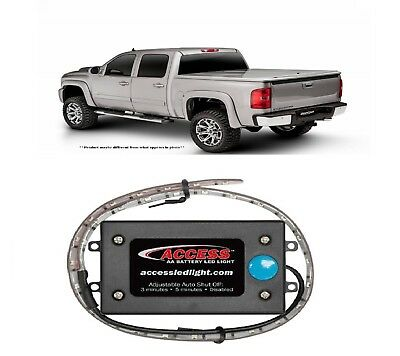 """UnderCover 6'9"""" Bed Magnetic Cover & Access 18"""" AA Battery Light for F-250 SD"""
