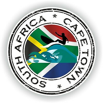 Seal Sticker of South Africa Cape Town Stamp Bumper Roundel Laptop Car Truck #01
