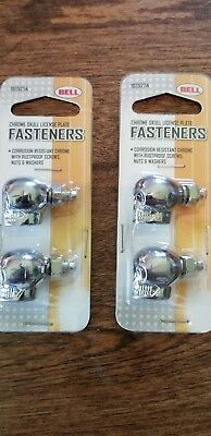 2 PACKS OF 2 LICENSE PLATE ATTACHING BOLTS//SCREWS-4 PIECE PACK 336581