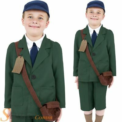 Boys Wartime 30s 40s Costume Child Book Day Week War Fancy Dress Child Outfit
