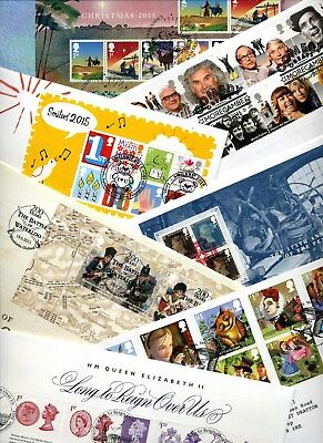 ** FDCs - GB 2015 Addressed / Unaddressed COMMEMORATIVE FIRST DAY COVERS **