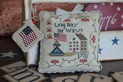 """""""Long May She Wave - A Patriotic Series"""" Cross Stitch Pattern ABBY ROSE DESIGNS"""