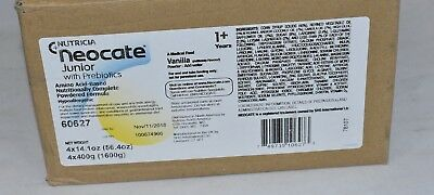 4 cans Neocate Junior Vanilla powder JR prebiotic formula case FREE PRIORITY HDW