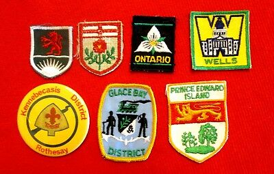 Boy Scouts of Canada Seven Piece Lot of Regional Patches & Pinback gslu1