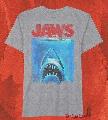 New Jaws Movie Poster 1975 Retro Vintage Classic  Mens T-Shirt