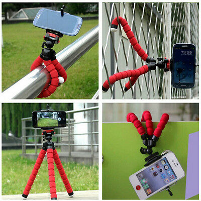 1Pc Portable Mini Flexible Tripod Mobile Phone Stand Holder Mold Camera