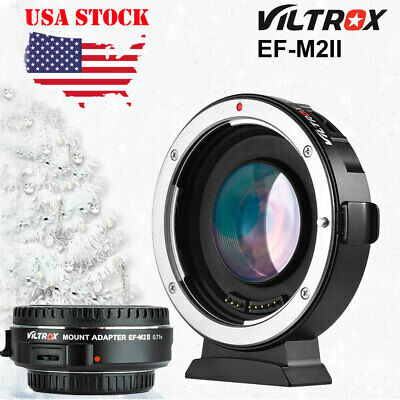 VILTROX EF-M2 AUTO FOCUS LENS ADAPTER 0.71X APERTURE FOR CANON EOS to M43 MFT