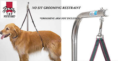 Top Performance Dog Grooming NO SIT LIE RESTRAINT HARNESS Nylon for Table Arm