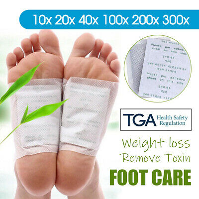 10100/200x Detox Foot Patch Pads Natural plant Toxin Removal Sticky Adhesives