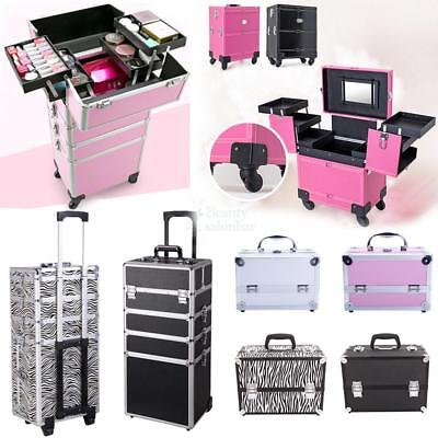 New 5 Diff Styles Professional Beauty Trolley Box Makeup Cosmetic Nail Jewel US