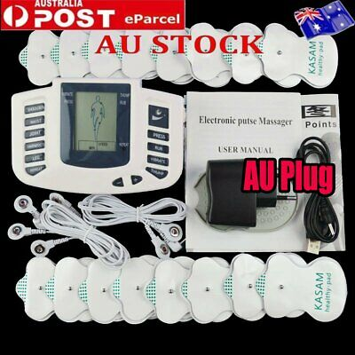 Electric Muscle Relax Massage Machine Stimulation Tens Therapy Pain Full Body AU