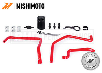 For Mazda Mx5 Nd 2016 On Mishimoto Baffled Oil Catch Can Kit - Red - Race Drift