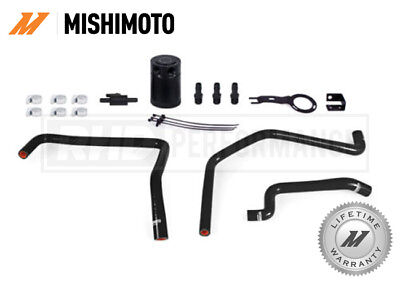 For Mazda Mx5 Nd 2016 On - Mishimoto Baffled Oil Catch Can Kit Black Race Drift