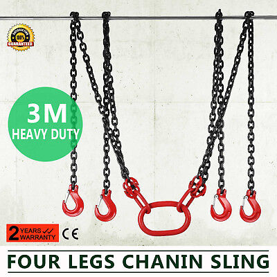 10FT Chain Sling with 4 Legs 5T Capacity Grade80 Orrosion Resistance Rope Hoist