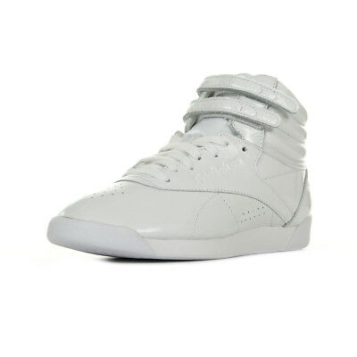 3a869c4e7168f Chaussures Baskets Reebok femme F S Hi Iridescent taille Blanc Blanche Cuir