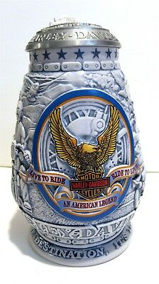 Nice Vintage Harley Davidson Collector Limited Edition 2000 Beer Stein No 30478