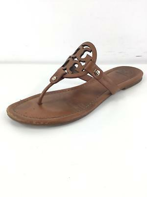2b1016d7be521 ... 648 Tory Burch Miller Vintage Vachetta Leather Thong Sandals Women Size  10 M order f7322 856f6 ...