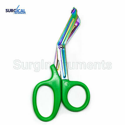 Green Heavy Duty Military style Trauma EMT/Paramedic Shears Multi Rainbow Color