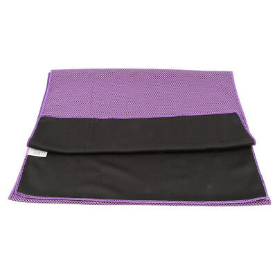 Instant Cooling Towel Ice Cold Sports Neck Wrap Climbing Running Yoga Purple